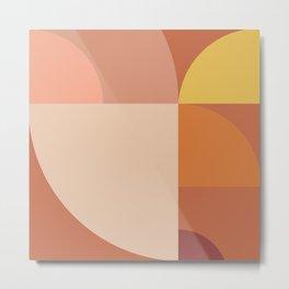 Geometric shapes terracotta I Metal Print
