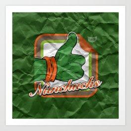 Nunchucks Art Print