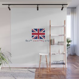 flag of uk - Best country ever. Wall Mural