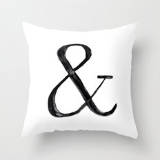 Ampersand watercolor Throw Pillow