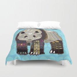 chocolate panda blue Duvet Cover