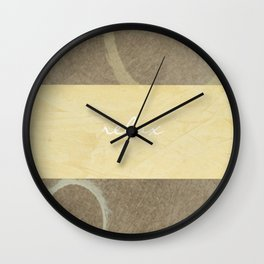 Relax Modern Art In Neutral Colors - Brown And Beige Wall Clock
