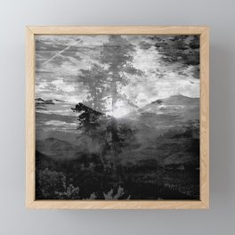 And With the Trees... Framed Mini Art Print