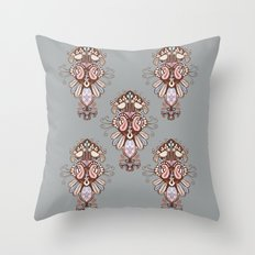 Harmony Grey Throw Pillow