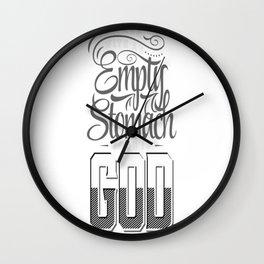 Food is God Wall Clock