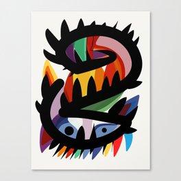 Depemiro Abstract Colorful Art Canvas Print