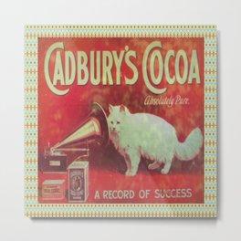 Cadburys Cocoa Metal Print