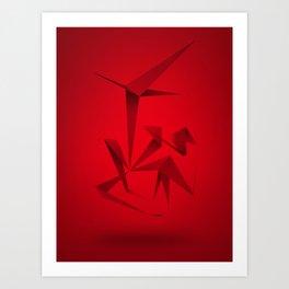 RED ANGLE Art Print