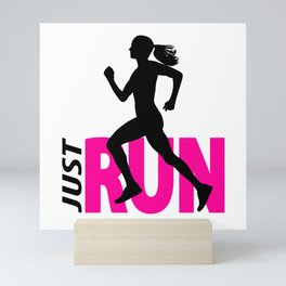Running girl Mini Art Print