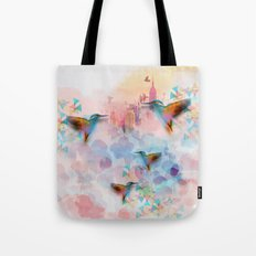Digital fantasy hummingbird Tote Bag