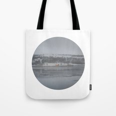 Telescope 6 cabin across the water Tote Bag