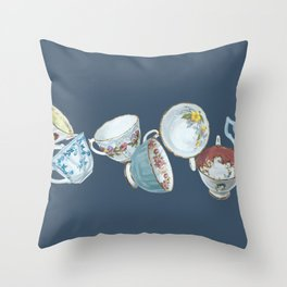 Dancing Queens in Navy Throw Pillow