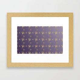 Ginkgo Purple Gold Framed Art Print