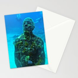 """""""Man On Fire"""" Sculpture - Isla Mujeres, Mexico Stationery Cards"""