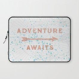 Adventure Awaits Rose Gold Laptop Sleeve