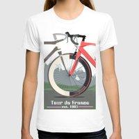 tour de france T-shirts featuring Tour De France Bicycle by Wyatt Design