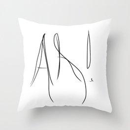 Ah ! Throw Pillow
