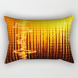 Sound wave orange Rectangular Pillow