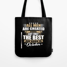 October Birthday Men Gift Tote Bag