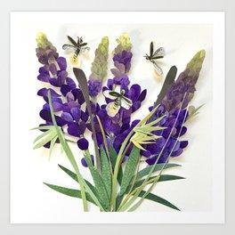 Light Bug Lavender Art Print
