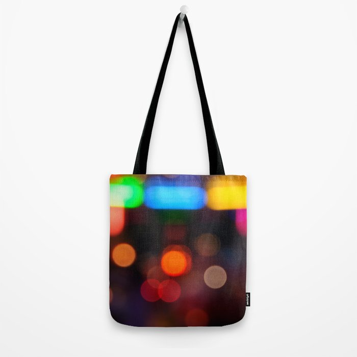 Night Light Colors Tote Bag