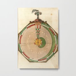 Peter Apian - Astronomicum Caesareum 1540 - Plate 21 Predictions of Eclipses of the Sun and Moon Metal Print
