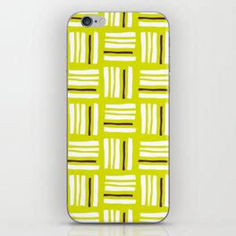 Stripes×Checkered Pattern__Lime Green&Purple iPhone Skin