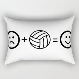 Volleyball Makes Me Happy Rectangular Pillow