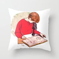 science Throw Pillows featuring Science! by Salgood Sam