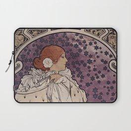 La Dame aux Camelias Alfons Mucha 1896 Laptop Sleeve
