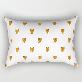 Cartoon cute child pattern with tigers Rectangular Pillow