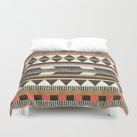 fire Duvet Covers featuring DG Aztec No.1 by Dawn Gardner