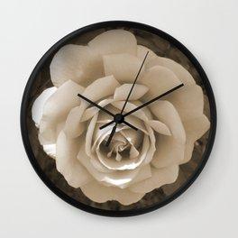 Nostalgic Rose very romantic in Sepia tones style Wall Clock