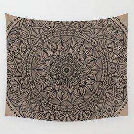 Circle of Life Mandala Brown Wall Tapestry
