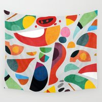 kitchen Wall Tapestries featuring Still life from god's kitchen by Picomodi