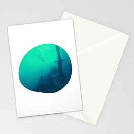Underwater Motive For Diving Fans And Instructors Stationery Cards