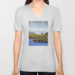 a cove in trinity, NL Unisex V-Neck