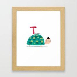 T is for Tortoise Framed Art Print