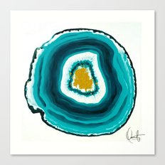 Agate Turquoise  Canvas Print