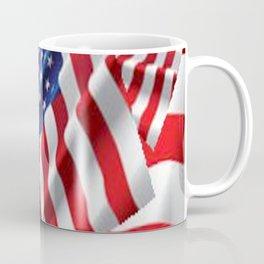 Patriotic American Flag Abstract Art Coffee Mug