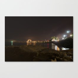 Nightscape of Canal Park Canvas Print