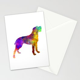 Bohemian Wirehaired Pointing Griffon in watercolor Stationery Cards