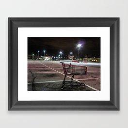 Late Night Shopping Framed Art Print