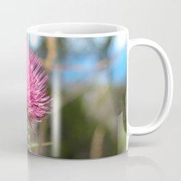 Beautiful pink thistle growing wild Coffee Mug