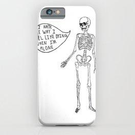 Joyce Manor Skeleton iPhone Case