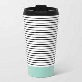 Line Edition blue Metal Travel Mug