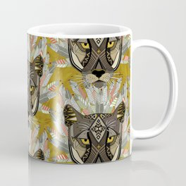 native mountain lion gold Coffee Mug