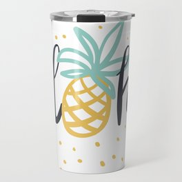 Aloha lettering and pineapple Travel Mug