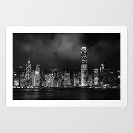 Hong Kong Skyline [Black & White] Art Print