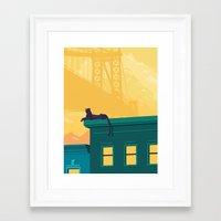 urban Framed Art Prints featuring Urban jaguar by Roland Banrevi